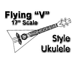 """Flying V"" Ukulele Image"