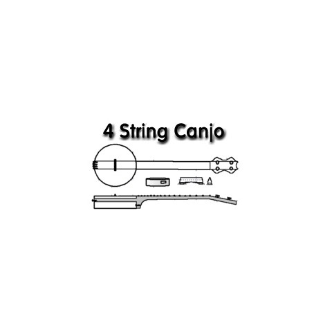 4 String Canjo Drawing