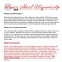 Laser Wheel Alignment System Instructions