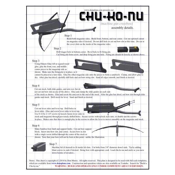 Chu ko nu (Machine gun crossbow) Plan