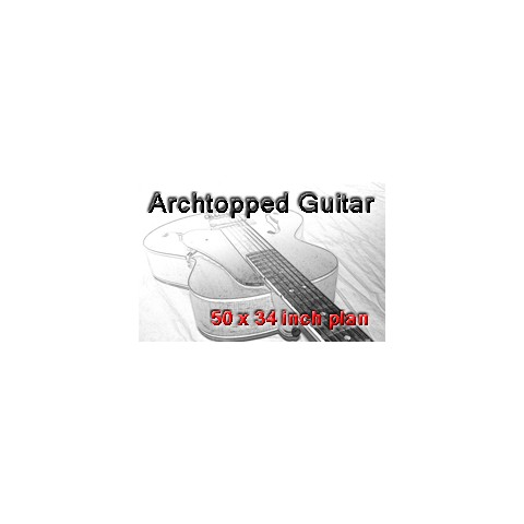 Archtopped Guitar Drawing