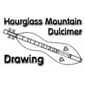 Hourglass Mountain Dulcimer Drawings