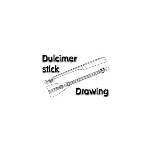 Stick Dulcimer Drawings